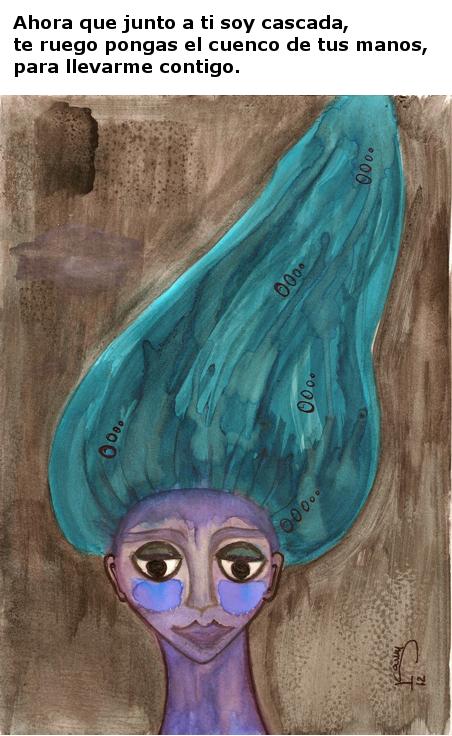 Cascada ascendente. Isabela Méndez